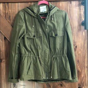 Zara hooded utility trench jacket size Large 💝